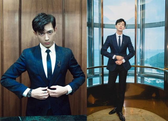 23岁张铭恩穿暗纹西装帅气十足,27岁李现也爱穿,谁更胜一筹?