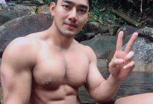 大胸肌帅哥户外写真 比体育生身材还好