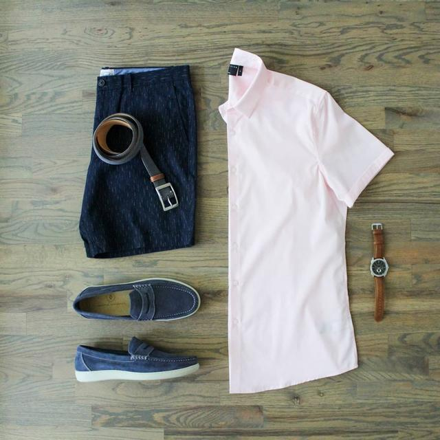 """男生穿""""短袖衬衫""""休闲帅气,夏天有这6套就够了,轻松告别闷热"""